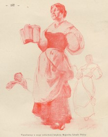 Hofbräuhaus: Studies for the Waitress and Another Figure 110945