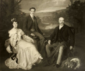 The present painting was originally part of a large group portrait of three members of the de Gramont family that was cut down in 1926 and divided into separate canvases to make way for a large tapestry [8752] [4506] [8761].