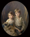 Ralli, Godfrey Victor, 3rd Baronet, and his sister Diana Myrtle Ralli, later Mrs John H. Walford 2681